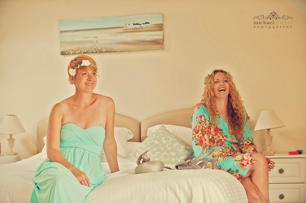 Bridesmaids-in-Cornwall-laughing