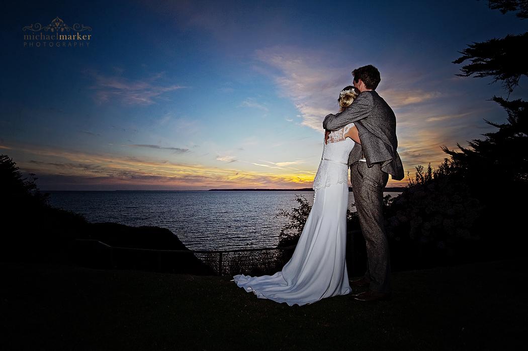 Cornish-sunset-wedding-couple