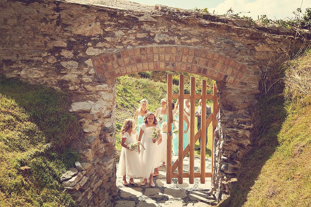 Flower-girls-Polhawn-fort-wedding