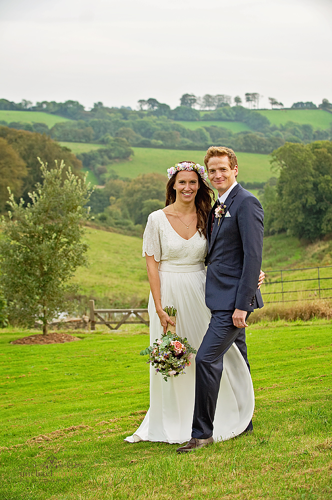 Beautiful bride and groom at Shilstone House wedding in Devon