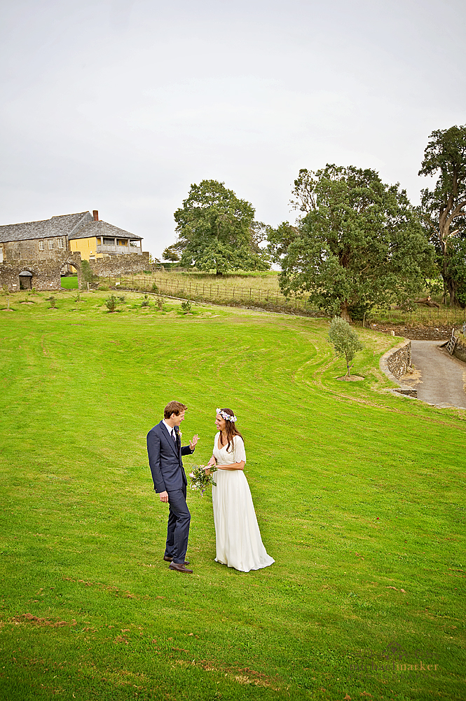 Wedding couple at Shilstone House on their wedding day
