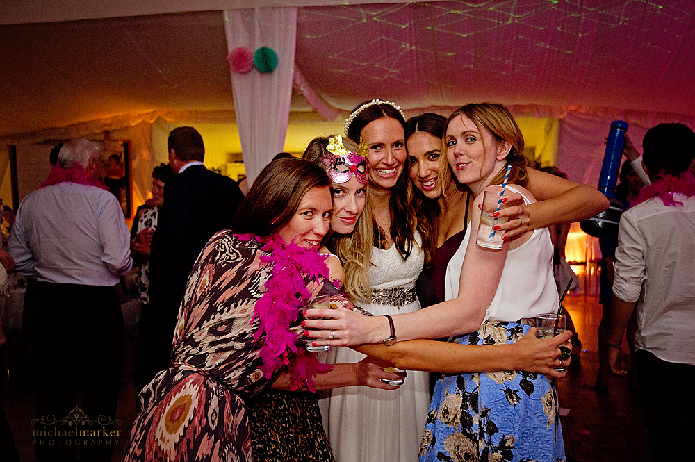Bride-and-friends-at-devon-wedding