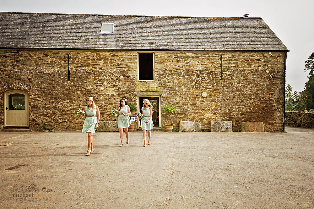 Bridesmaids-at-Shilstone-courtyard