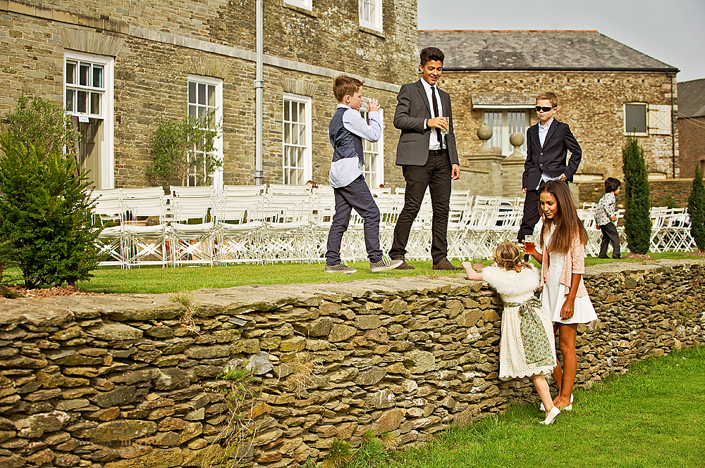 Children-at-Shilstone-House-garden-wedding