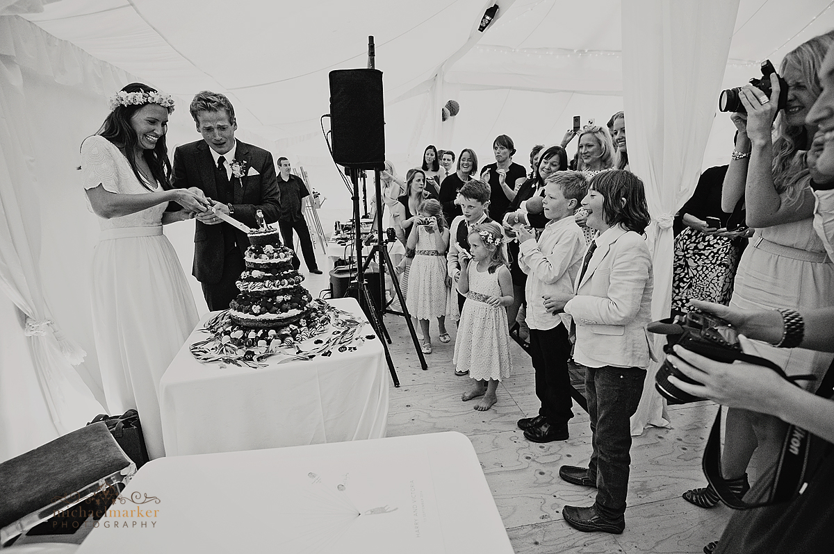 Cutting-wedding-cake-Shilstone-Devon