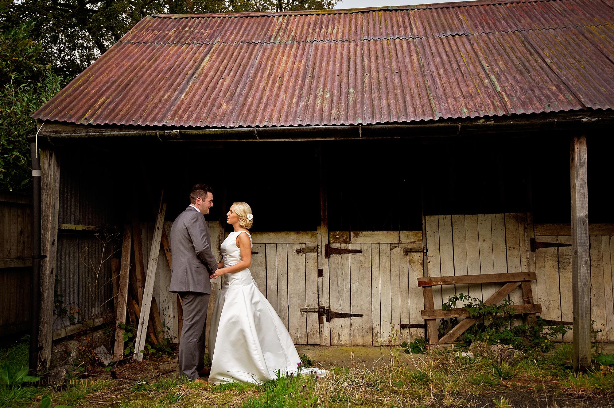 Rustic barn Dartmoor wedding