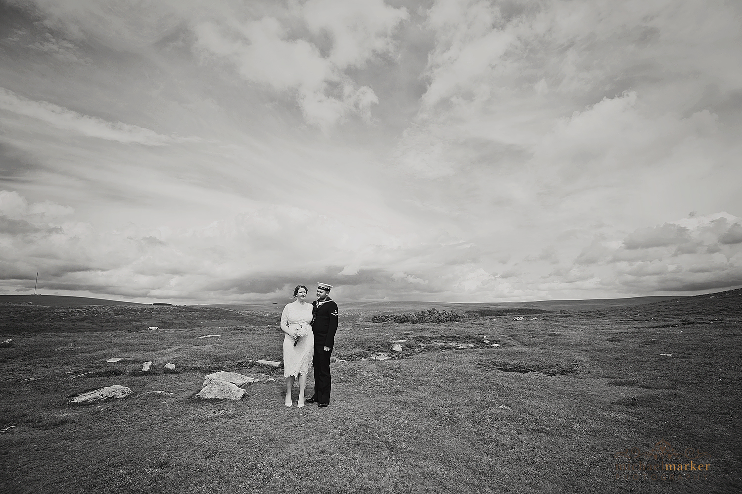 Dartmoor-wedding-in-black-and-white