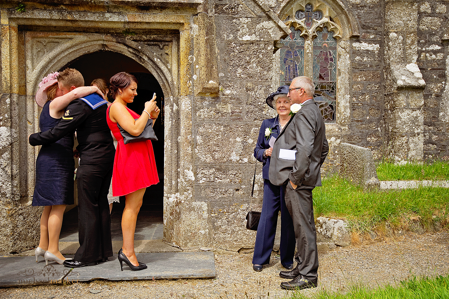 Devon-church-wedding-exit-photo