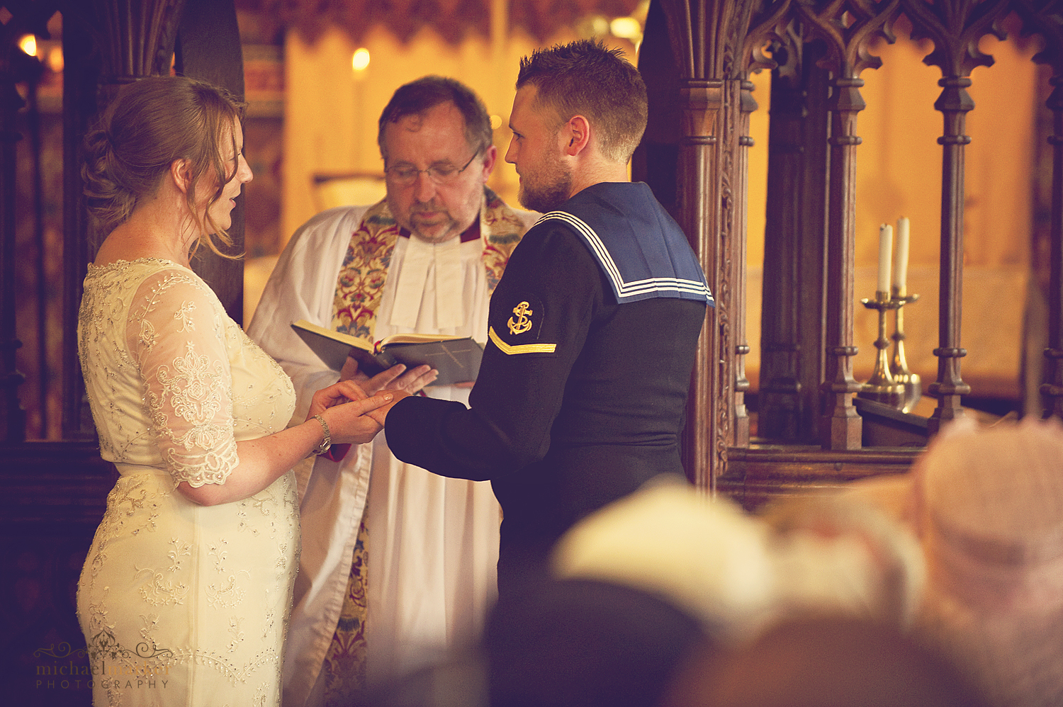 Exchanging-vows-at-Dartmoor-village-church-wedding