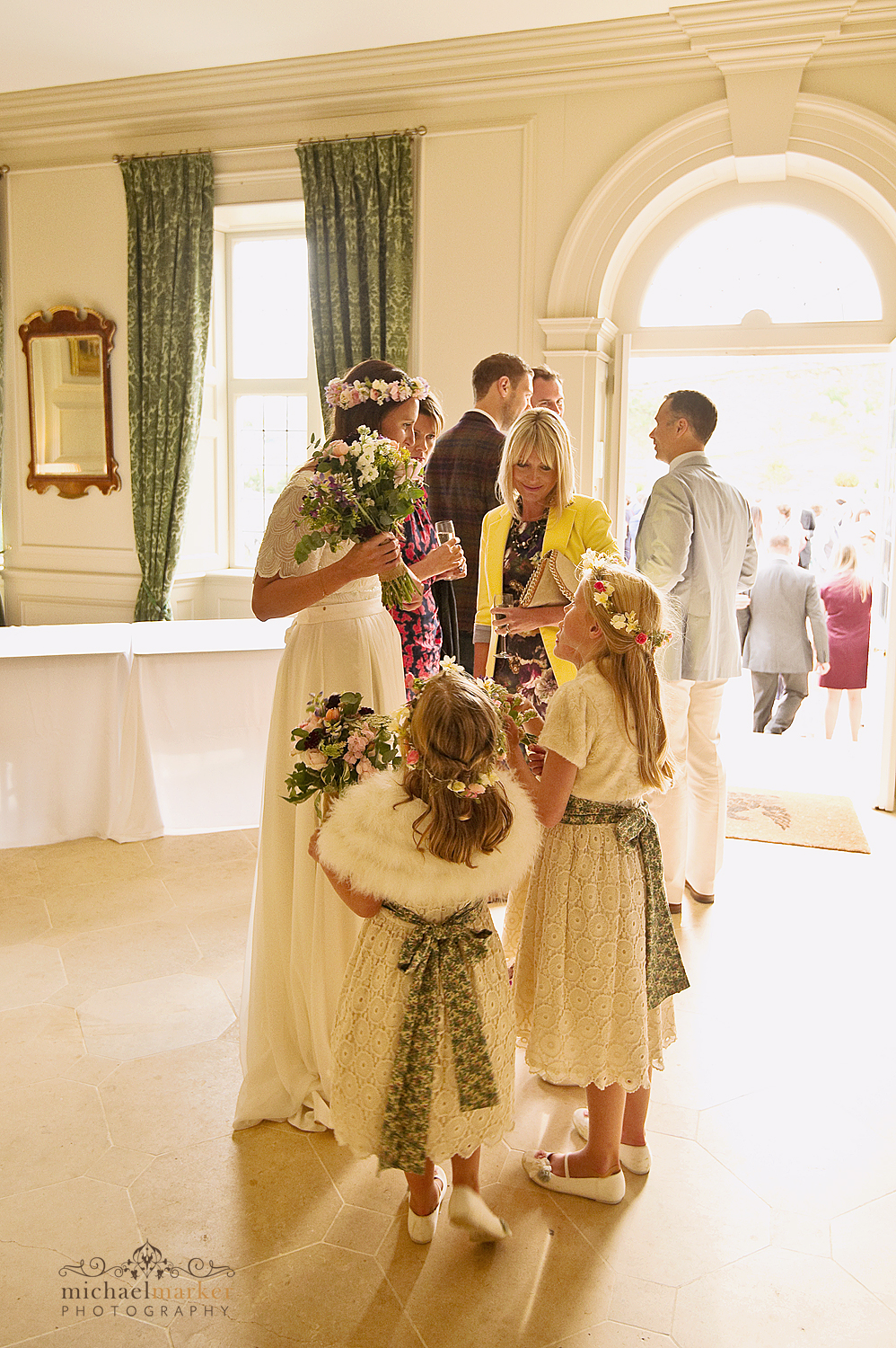 Flower-girls-at-Shilstone-House-wedding