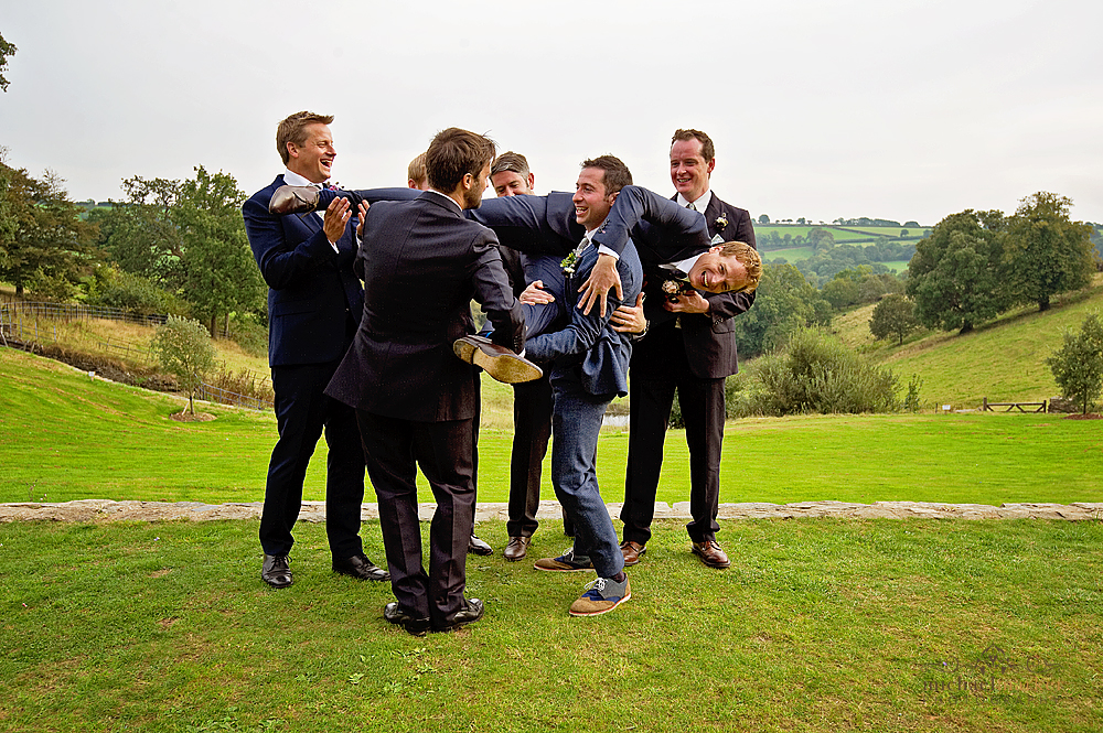 Groom-messing-around