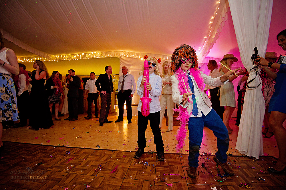 Children dancing at Shilstone House wedding
