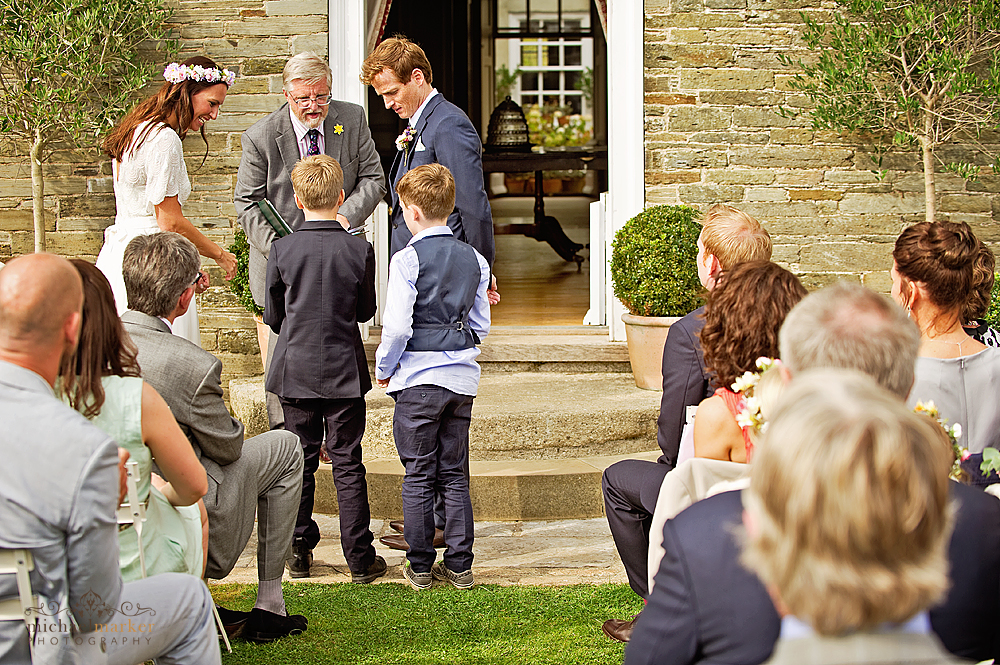 Ring-bearers-at-Shilstone-garden-wedding