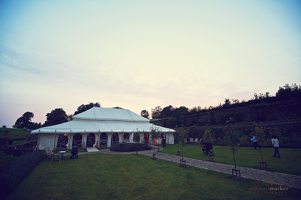 Shilstone-House-marquee-at-sunset