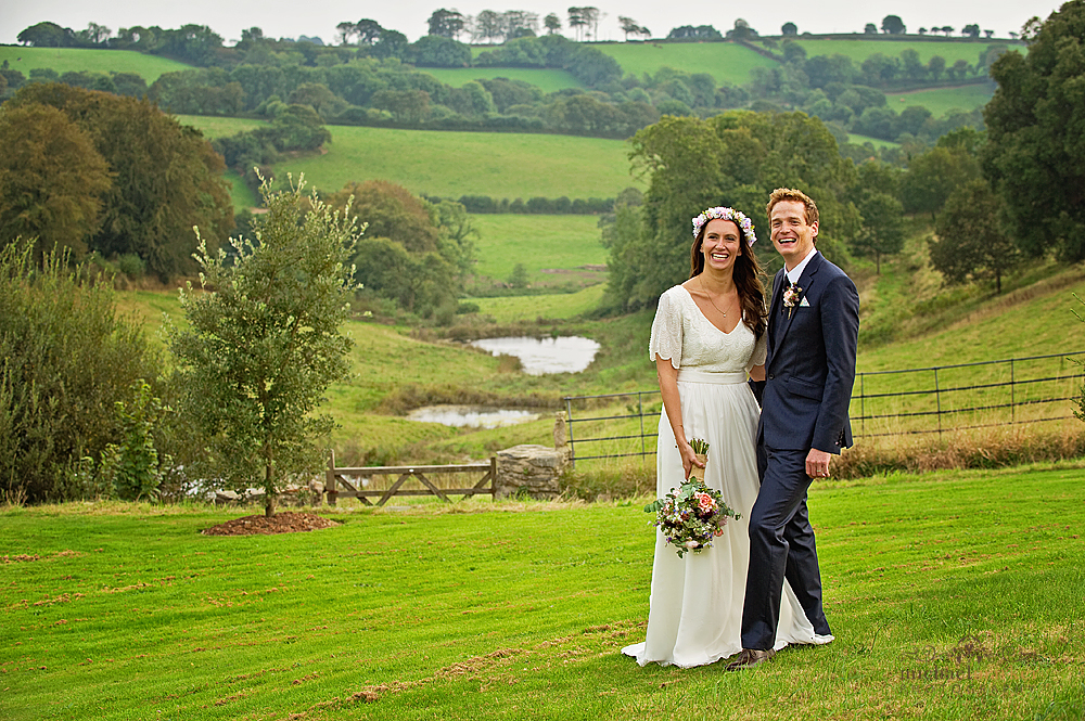 bride-and-groom-in-Shilstone-gardens