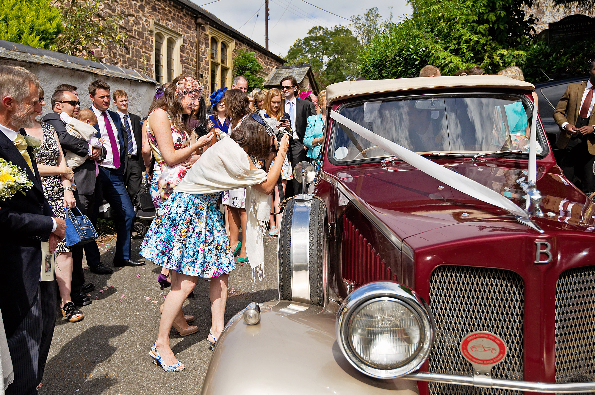 Bickleigh-wedding-car
