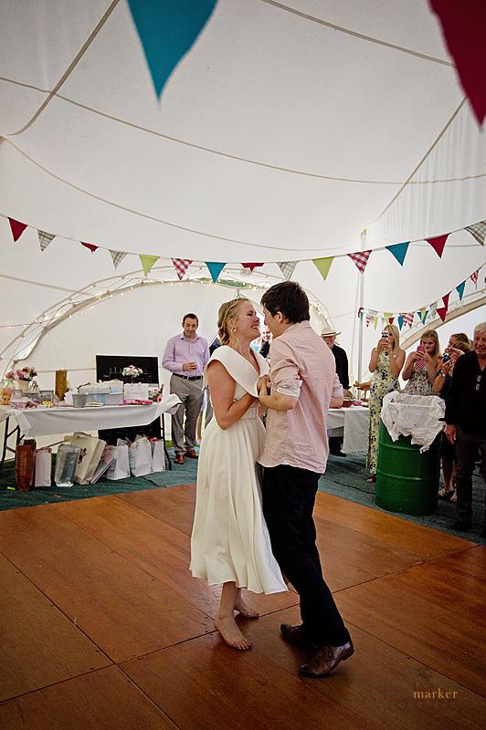 First dance at South Devon festival wedding
