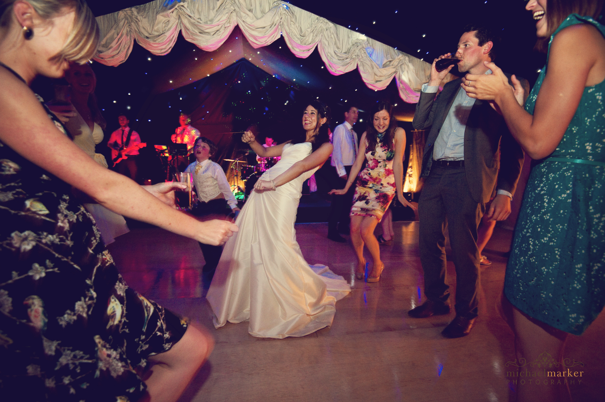 Bride-dancing-at-Devon-wedding