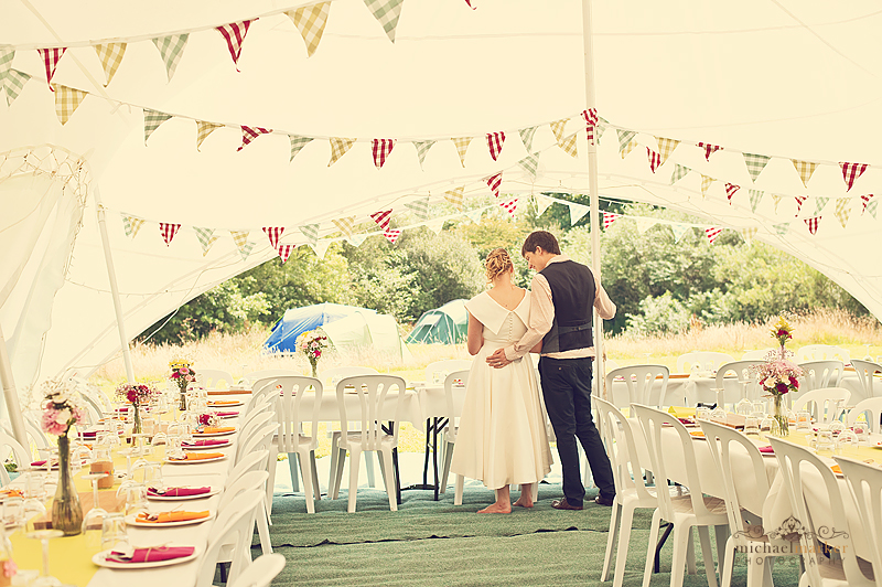 Devon-bride-and-groom-at-farm-marquee