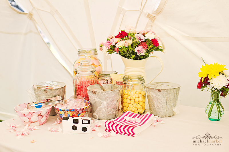 Festival Wedding Sweet Table Devon Wedding Photography London