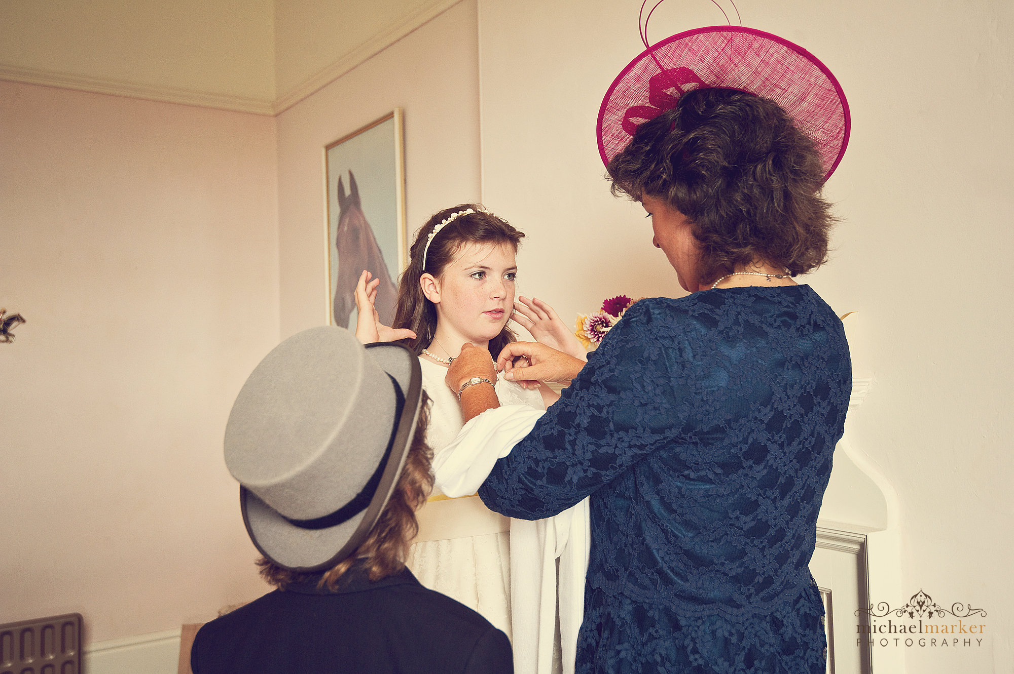 Flower-girl-getting-ready
