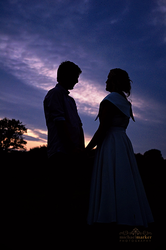Groom-and-bride-at-sunset