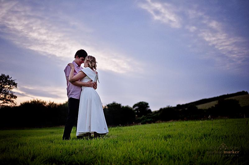 Totnes-wedding-farm-sunset