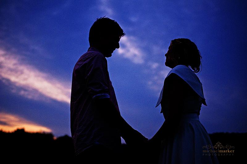 Totnes-wedding-sunset-couple