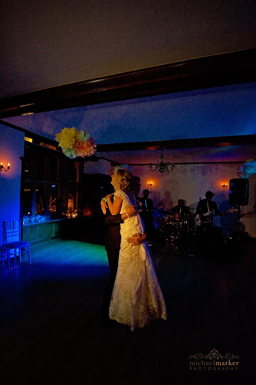 Colourful first dance at North devon wedding