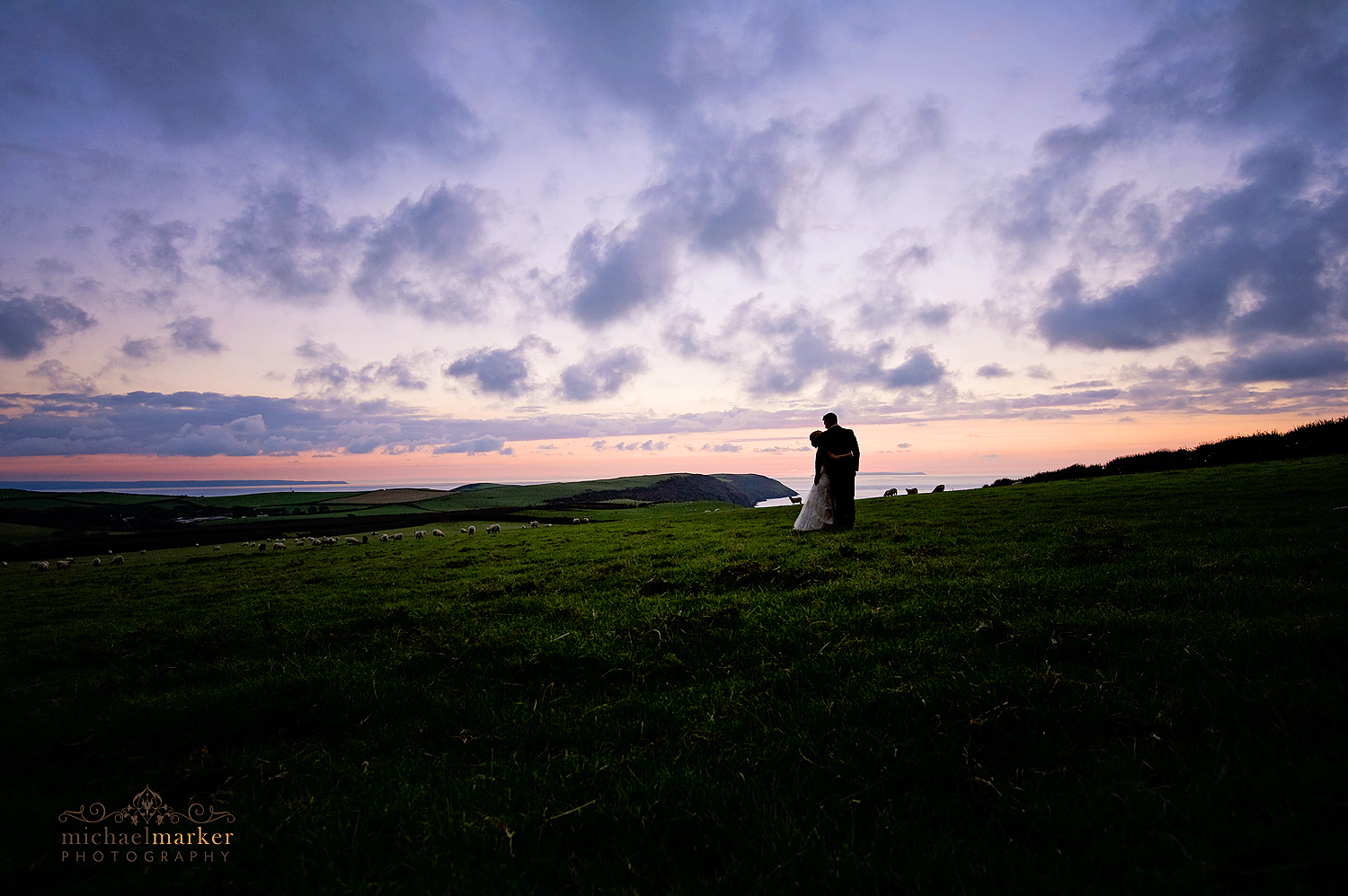 Puttsborough-wedding-sunset-panorama