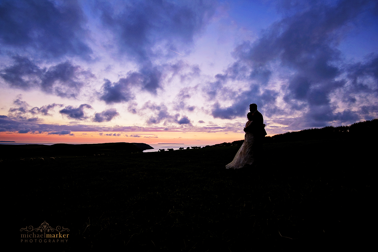 Puttsborough-wedding-sunset