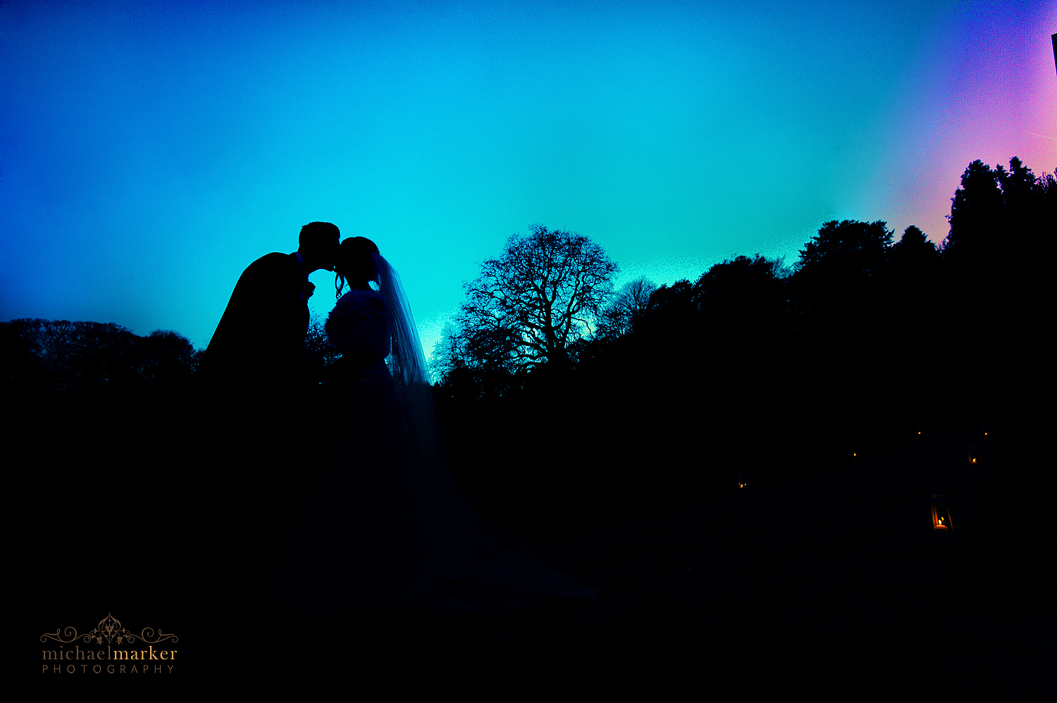 Dartington-wedding-silhouette