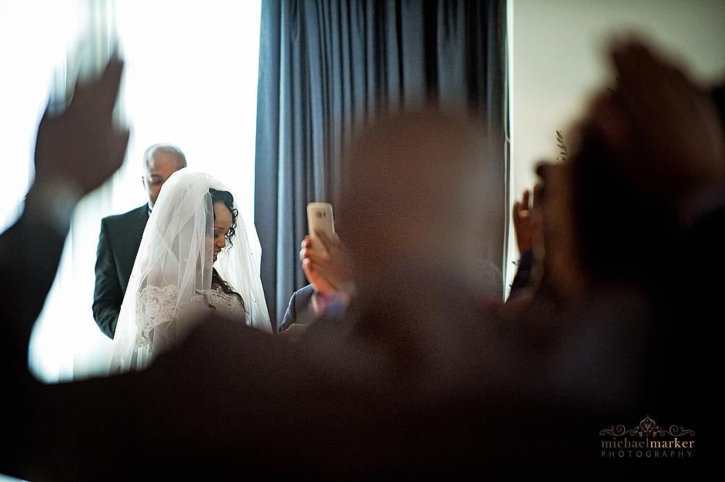 st-mellion-wedding-ceremony-singing