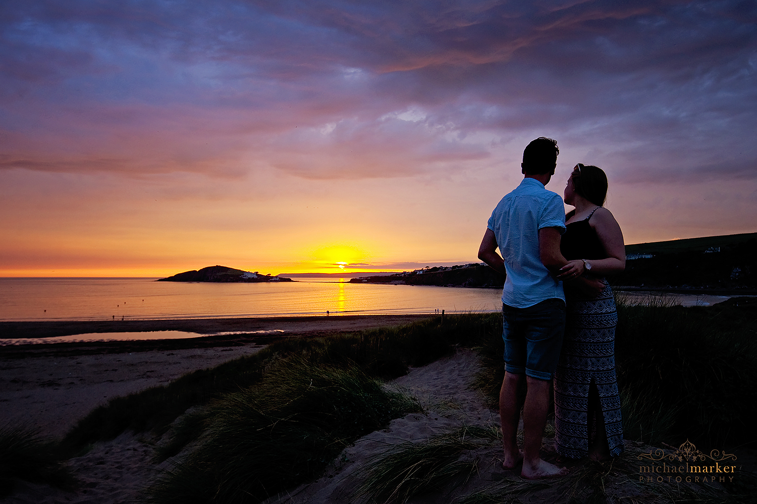 bigbury-stunning-sunset-portrait