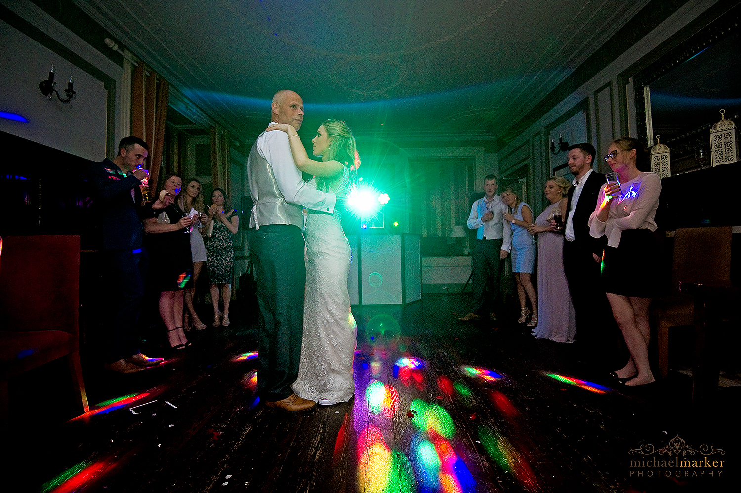 Bride dances with her father at Langdon Court