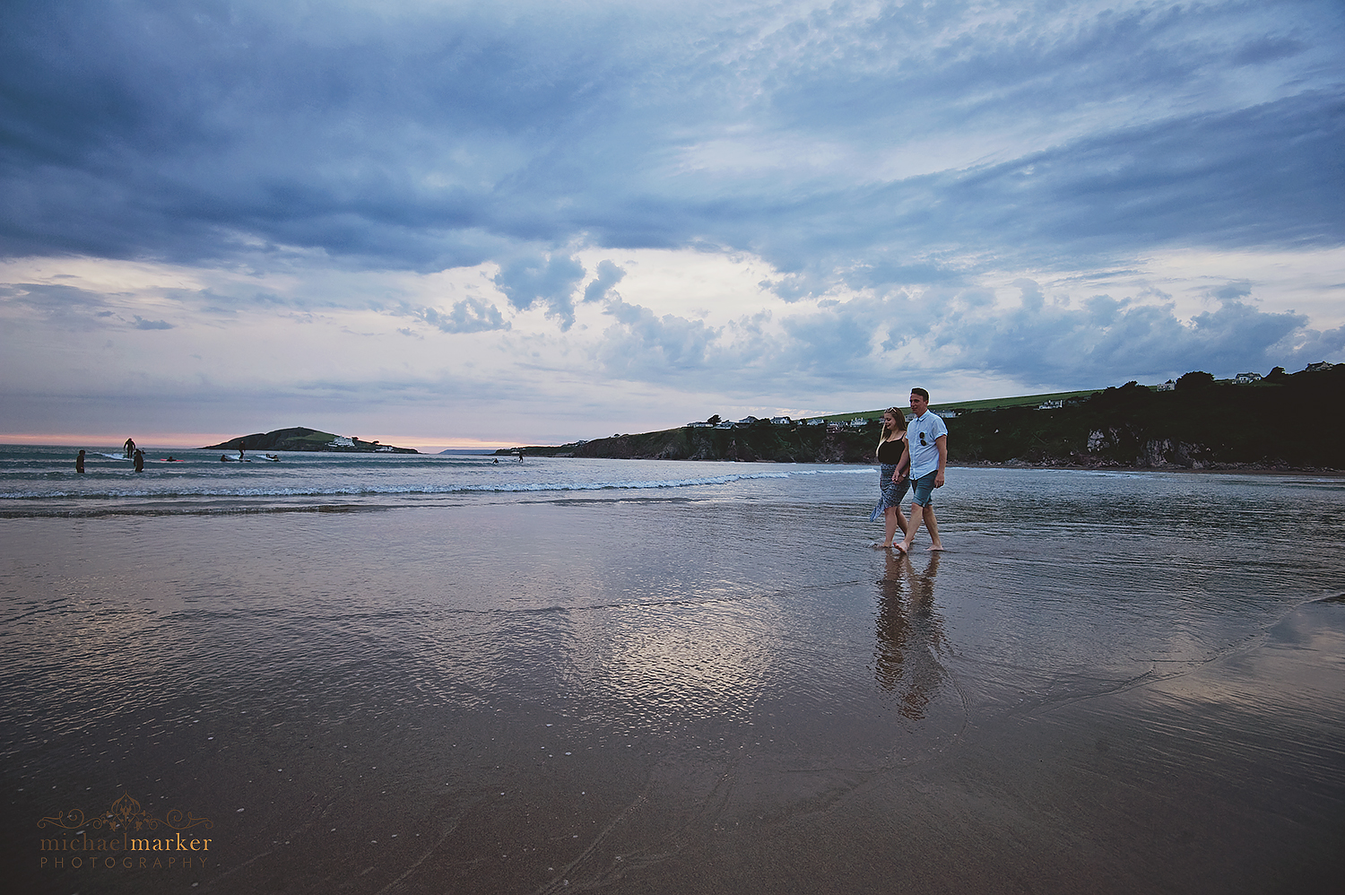 devon-beach-engagement-couple