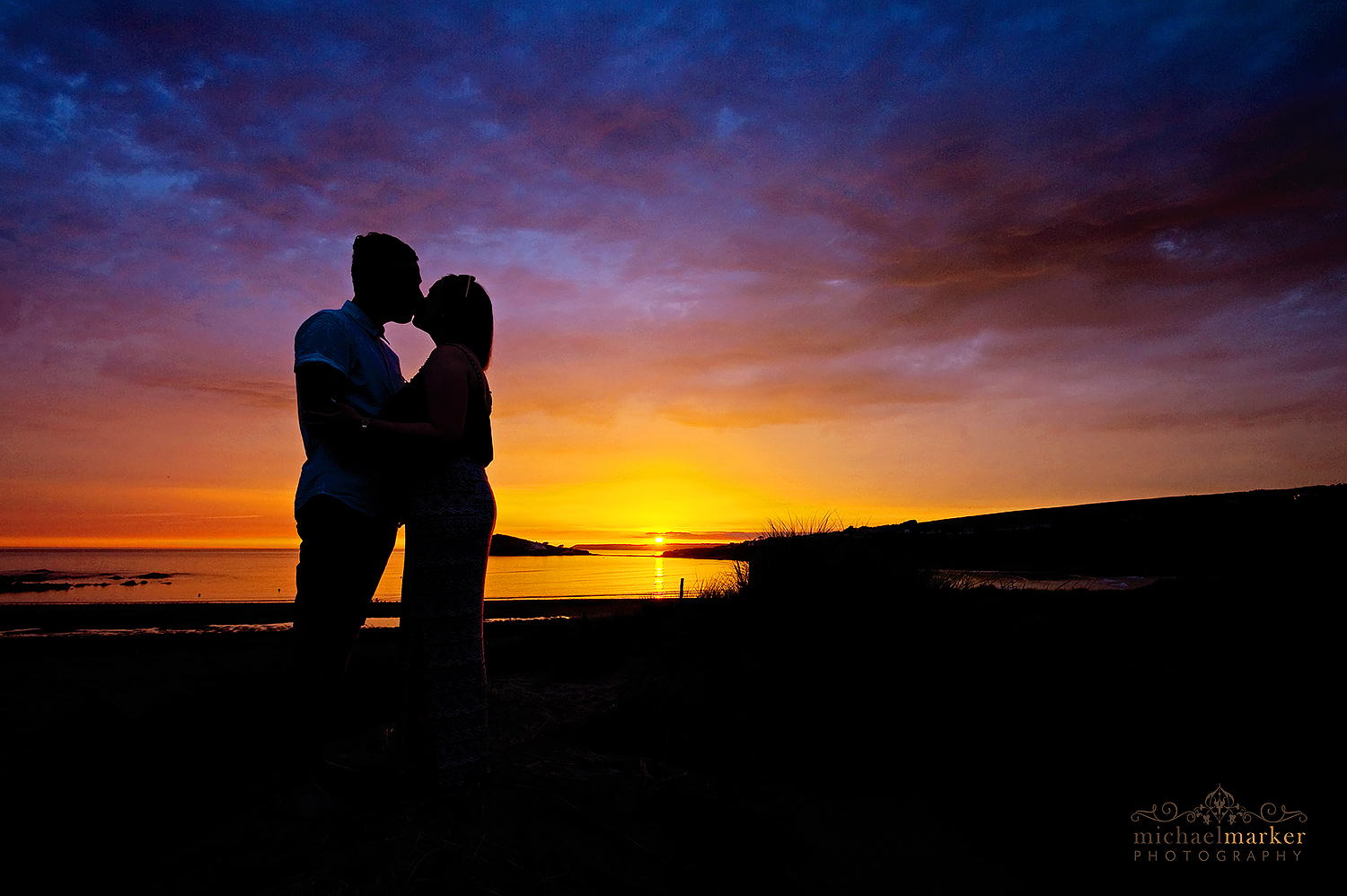engaged-photo-shoot-sunset-devon-beach