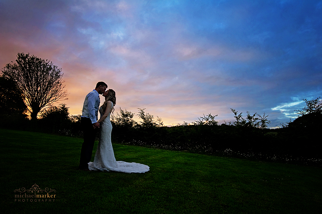 langdon-court-wedding-sunset