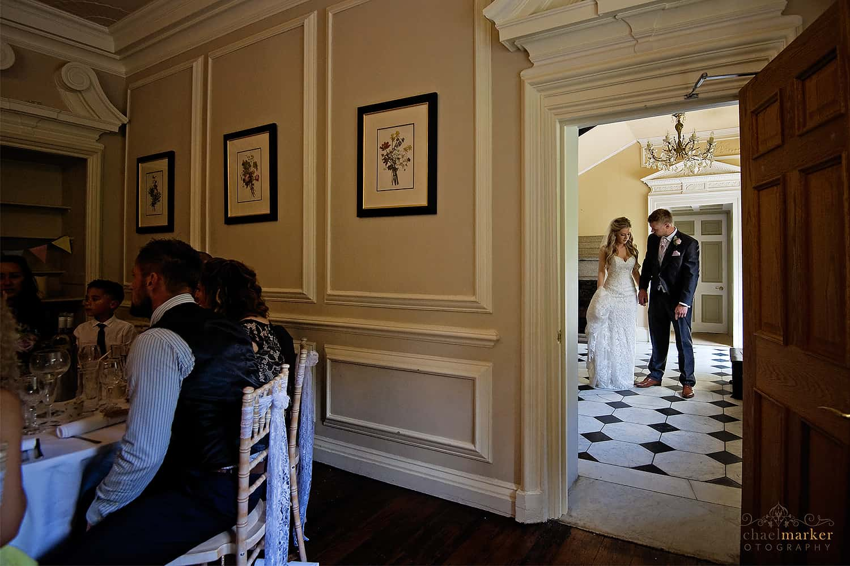 making-an-entrance-at-langdon-court-wedding