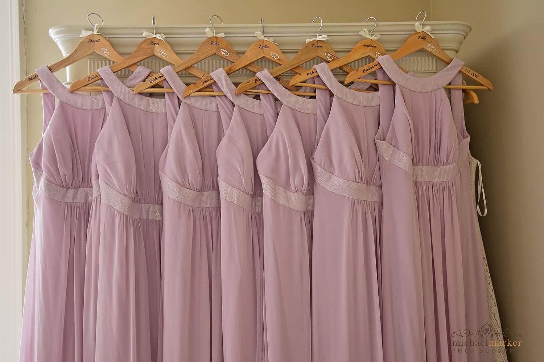 Pink bridesmaid dresses in Devon wedding