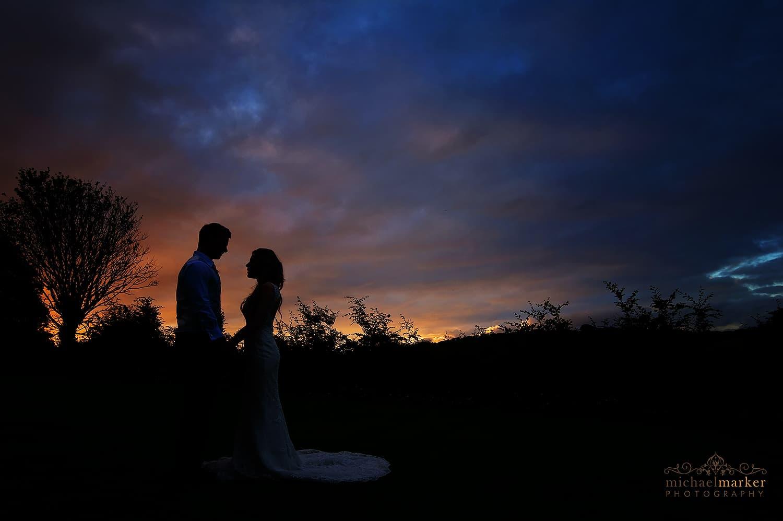 sunset-wedding-couple-at-langdon-court