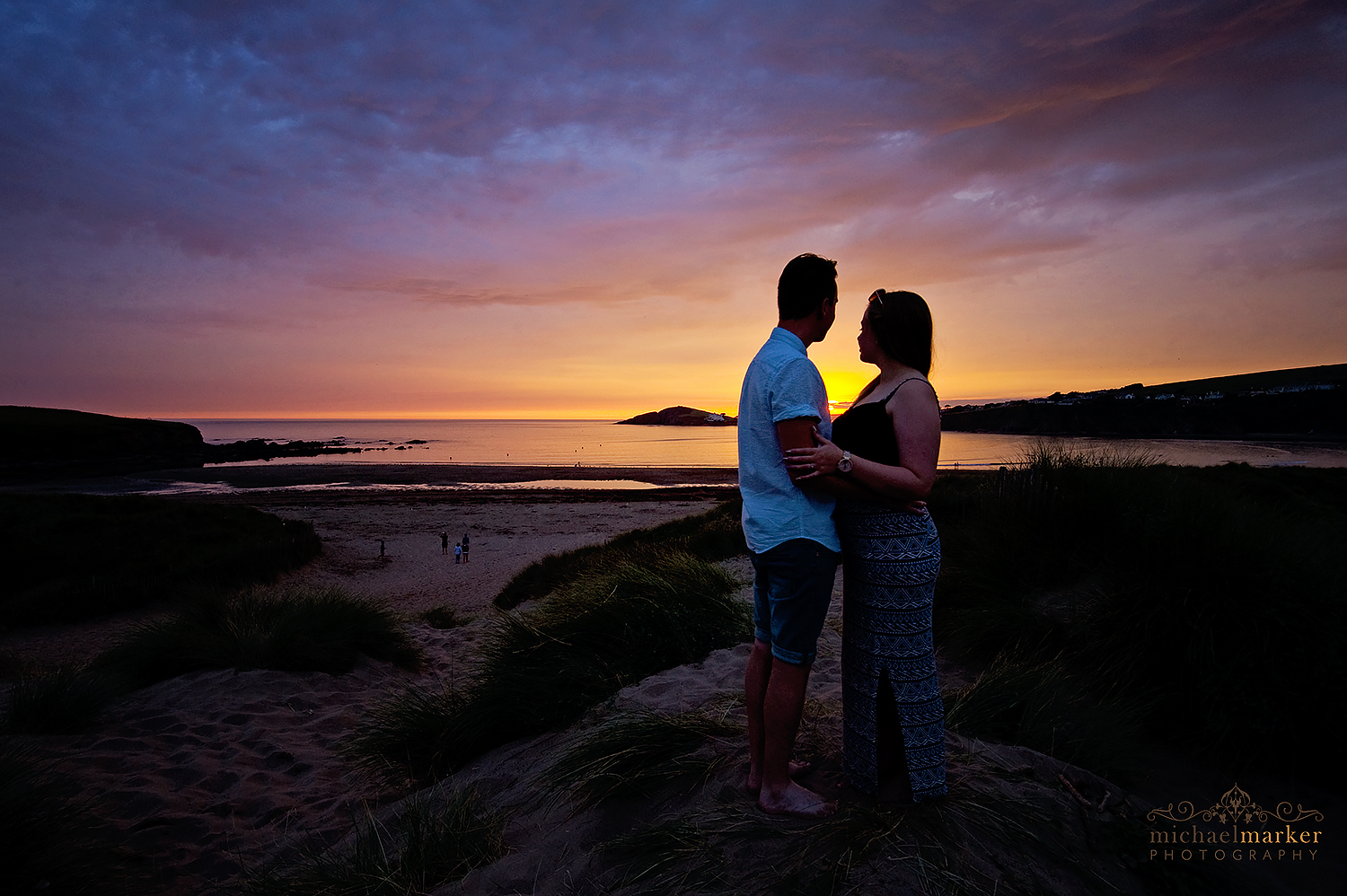 Best sunset engagement photo in devon