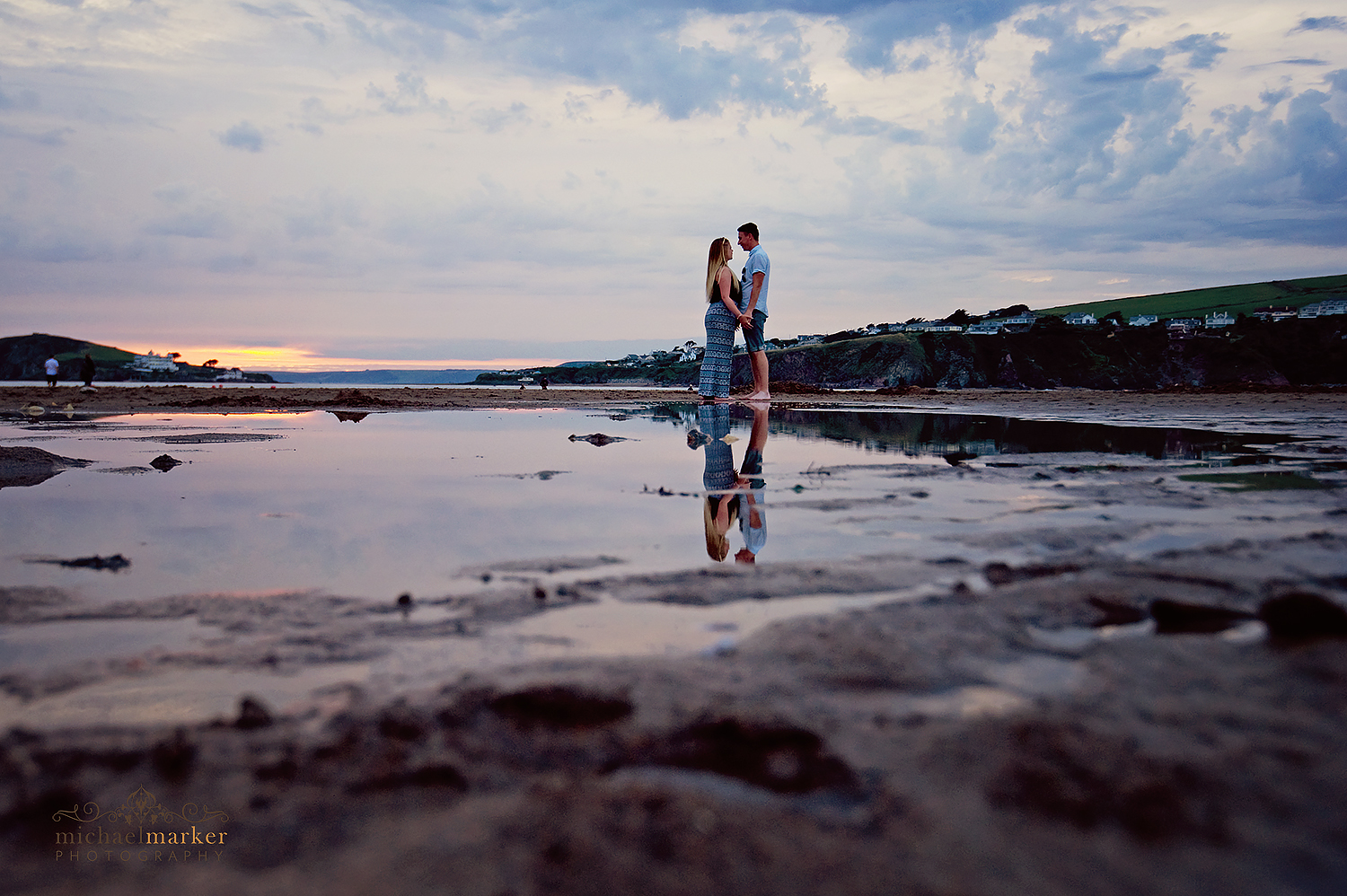 devon-beach-engagement-shoot-reflections