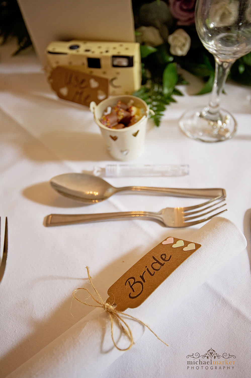 Bride's DIY table setting