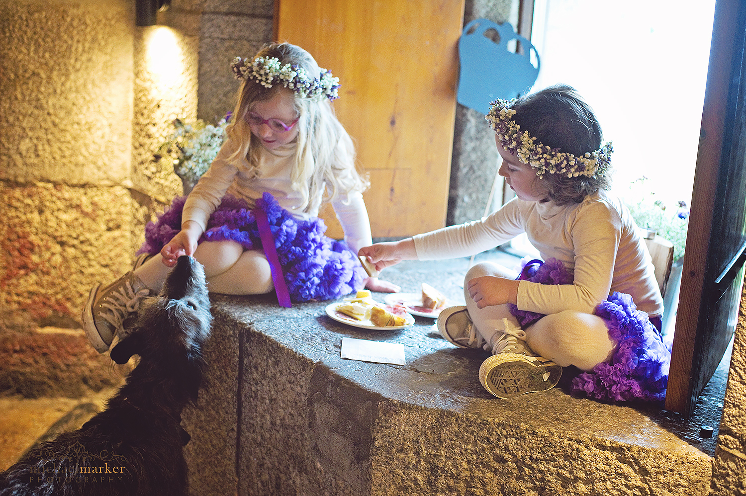flower-girls-and-dog-polhawn-wedding