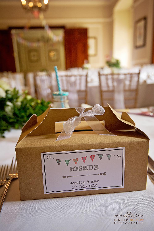 Chidrens table favour box