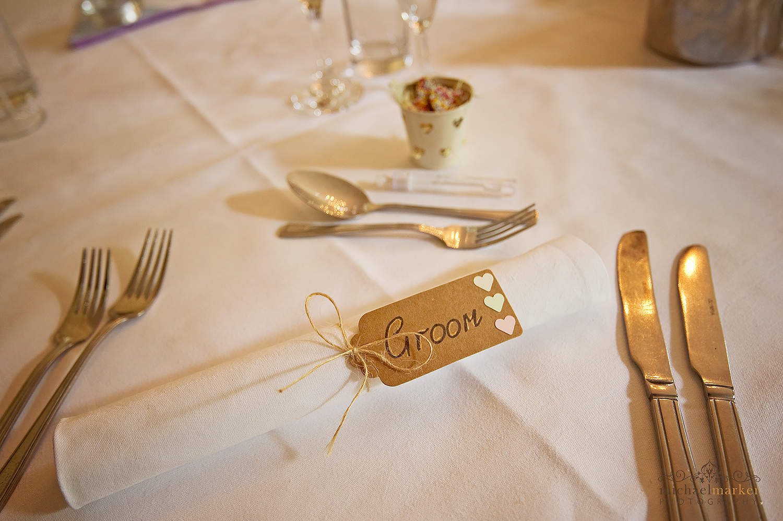 parcel label wedding table decoration