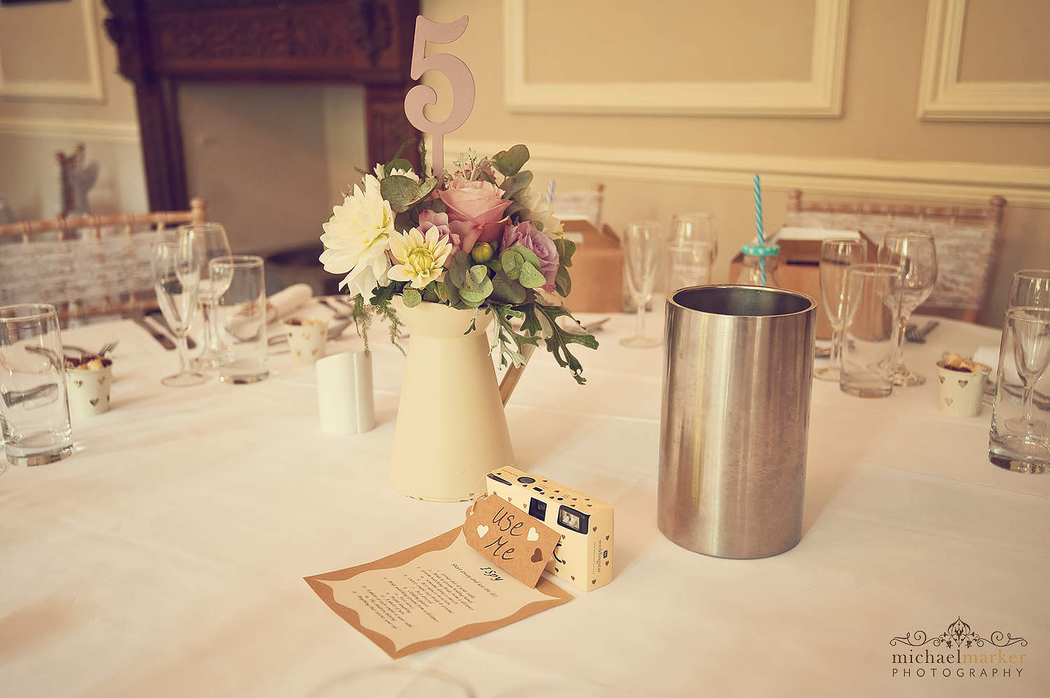 table-cameras-at-langdon-court-wedding