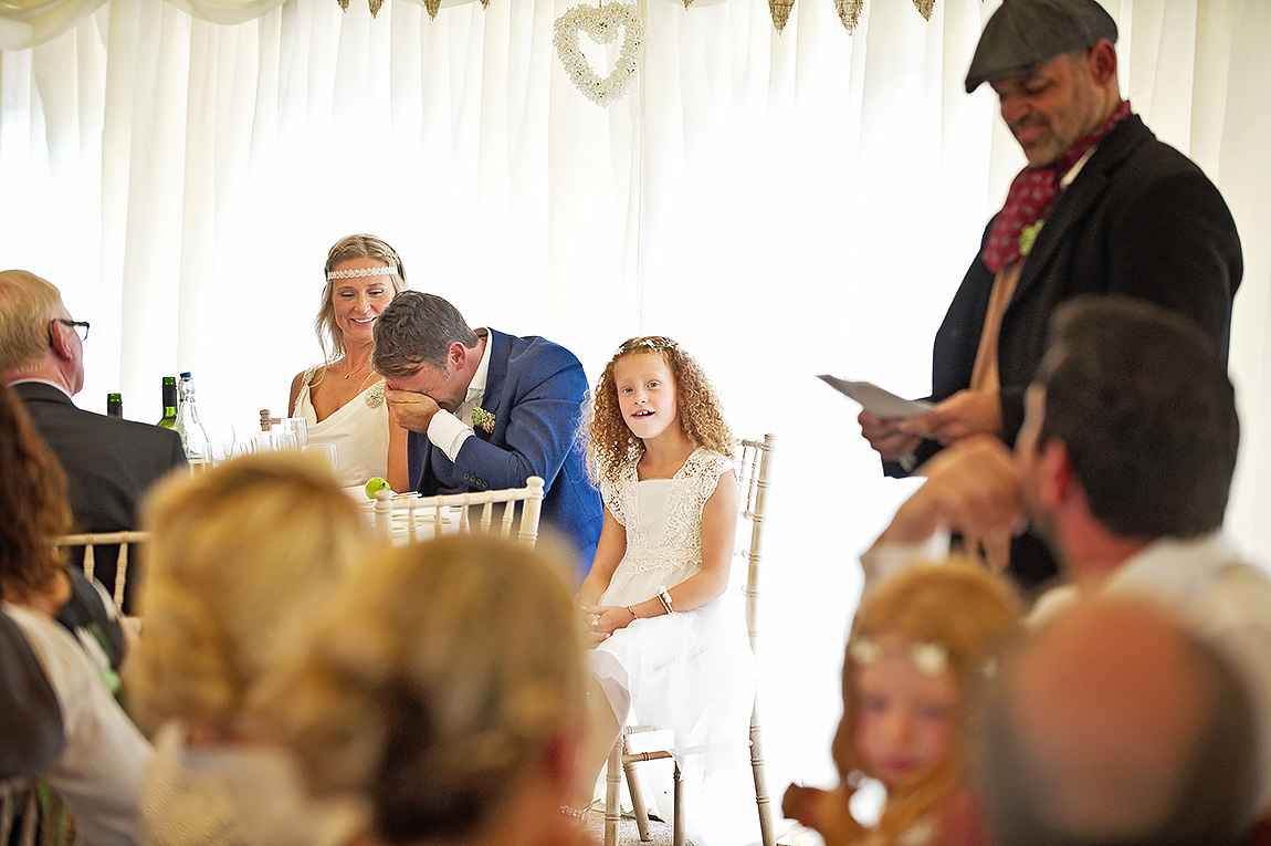 Wedding day speech humiliated groom at Devon wedding