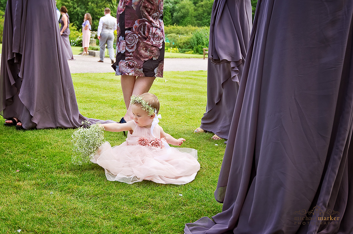 cute flowergirl at Moor Park wedding